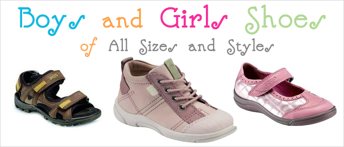 Boys and Girls Shoes of All Sizes and Types